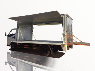 Xe Tải Đô Thành IZ49 1T9 Thùng Kín Bửng Nâng