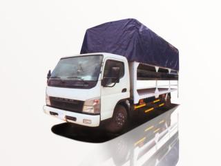 Xe Tải Fuso Canter 8.2HD 3T7 Chở Mô Tô Xe Máy