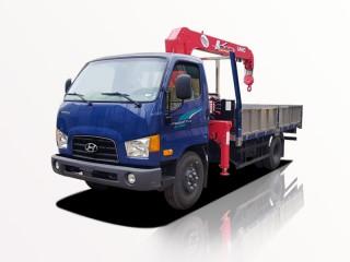 Xe Cẩu Hyundai New Mighty 110SP 5T9 Gắn Cẩu Unic URV343