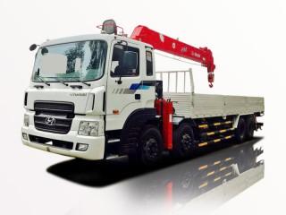 Xe Tải Hyundai HD320 11 Tấn Gắn Cẩu ATOM 14 Tấn 5 Khúc