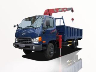 Xe Tải Hyundai HD700 5T7 Gắn Cẩu Unic URV344 3 Tấn 4 Khúc