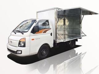 Xe Tải Hyundai New Porter H150 1T5 Thùng Kín Cánh Dơi