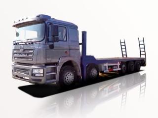Xe Tải Shacman 4 Chân 8x4 Nâng Đầu Chở Máy Công Trình
