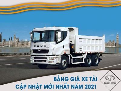 Bảng Giá Xe Tải CAMC Tháng 03/2021 Mới Nhất Nhiều Ưu Đãi Hấp Dẫn