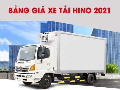 Bảng Giá Xe Tải Hino Mới Nhất Tháng 03/2021 Tại Việt Nam