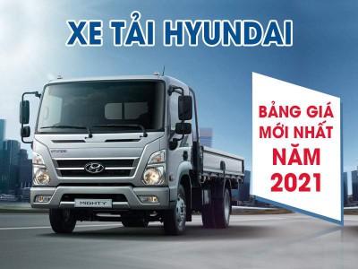 Bảng Giá Xe Tải Hyundai Cập Nhật Tháng 03/2021