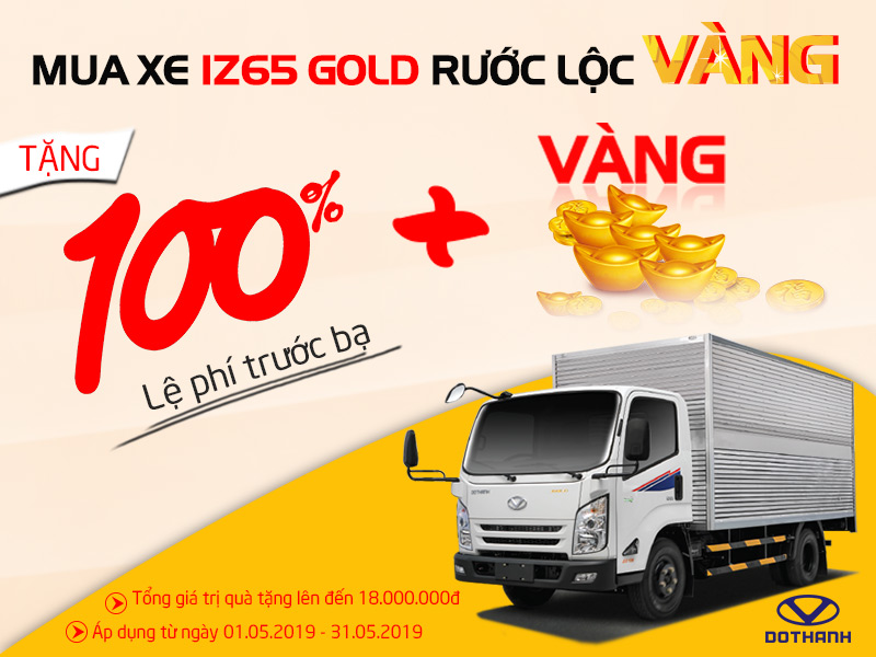 Mua Xe IZ65 Gold Rước Lộc Vàng