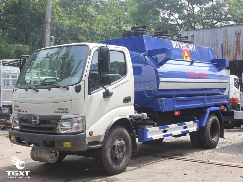 Xe Bồn Hino Dutro 6 Khối Chở Xăng Dầu