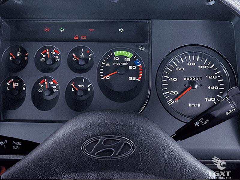 Xe Tải Hyundai 5 Chân 15 Tấn Gắn Cẩu Kanglim 10 Tấn 5 Khúc